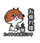 たくや専用タクヤが使う用の名前スタンプ(個別スタンプ:19)