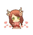 ほのぼのバンビ娘(個別スタンプ:01)
