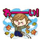 【秋だよ!!♥実用的】デカかわ文字(個別スタンプ:07)