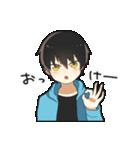 黒髪少年(個別スタンプ:01)