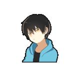 黒髪少年(個別スタンプ:25)