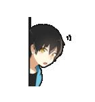 黒髪少年(個別スタンプ:26)