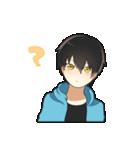 黒髪少年(個別スタンプ:27)