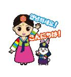 オルちゃん&トッキ【ハングル日常会話】(個別スタンプ:01)