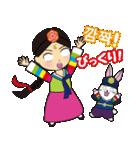 オルちゃん&トッキ【ハングル日常会話】(個別スタンプ:10)
