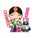 オルちゃん&トッキ【ハングル日常会話】(個別スタンプ:13)