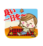 【秋〜冬】大人女子♥丁寧言葉&イベント(個別スタンプ:12)