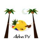 パインちゃん ハワイへ行く!(個別スタンプ:4)