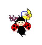 てんとう虫のララちゃんとお友達(個別スタンプ:06)