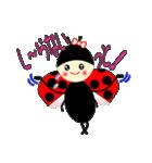 てんとう虫のララちゃんとお友達(個別スタンプ:07)