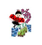 てんとう虫のララちゃんとお友達(個別スタンプ:09)