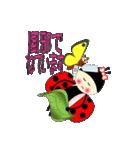 てんとう虫のララちゃんとお友達(個別スタンプ:14)