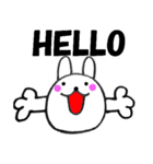 主婦が作ったウサギ デカ文字時々敬語2(個別スタンプ:5)
