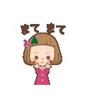 動く♪前髪短めな女の子のつっこみスタンプ(個別スタンプ:14)