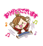 【日常&ツッコミ♥♥】ゆるカジ女子(個別スタンプ:13)
