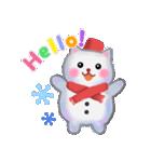 雪だるまネコさん 2(個別スタンプ:02)