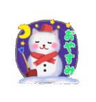 雪だるまネコさん 2(個別スタンプ:03)