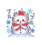 雪だるまネコさん 2(個別スタンプ:15)