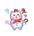雪だるまネコさん 2(個別スタンプ:20)