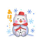 雪だるまネコさん 2(個別スタンプ:23)