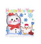 雪だるまネコさん 2(個別スタンプ:37)