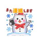 雪だるまネコさん 2(個別スタンプ:39)