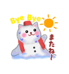 雪だるまネコさん 2(個別スタンプ:40)