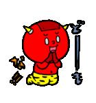 テキトー過ぎる赤鬼くん 2 by マメズ(個別スタンプ:21)
