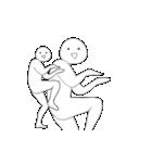 動く!RAKUGAKI人 2(個別スタンプ:22)