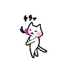白ねこスタンプズ(個別スタンプ:01)