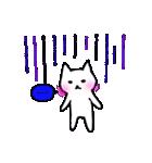 白ねこスタンプズ(個別スタンプ:08)