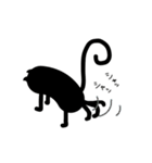 黒猫1号(個別スタンプ:08)