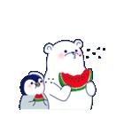 ペンギンとしろくまの夏休み(個別スタンプ:27)