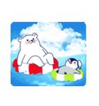 ペンギンとしろくまの夏休み(個別スタンプ:28)