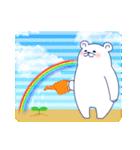 ペンギンとしろくまの夏休み(個別スタンプ:32)