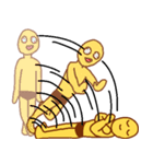 変人祭り 黄男(個別スタンプ:04)
