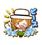 ほのぼのカノジョ『初夏!夏に向かって』(個別スタンプ:02)
