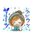 ほのぼのカノジョ『初夏!夏に向かって』(個別スタンプ:04)