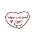 <英語>雑貨風付箋くまさん pop cute bear(個別スタンプ:20)