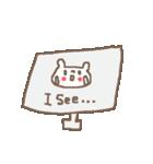 <英語>雑貨風付箋くまさん pop cute bear(個別スタンプ:27)