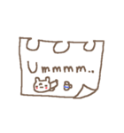 <英語>雑貨風付箋くまさん pop cute bear(個別スタンプ:29)