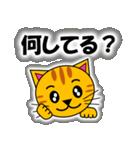あいづち上手なトラ「3匹のこねこ 4」猫(個別スタンプ:17)