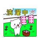シロ&クロ 日常会話編 パート2 シロver(個別スタンプ:12)