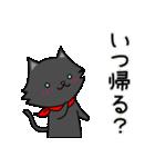 シロ&クロ 日常会話編 パート2 クロver(個別スタンプ:23)