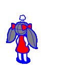 少女モーション(個別スタンプ:10)
