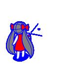 少女モーション(個別スタンプ:34)