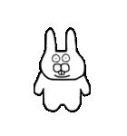 少し腹立つウサギ(個別スタンプ:37)