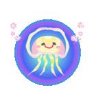 ぷるんと虹色くらげ(個別スタンプ:8)