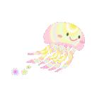 ぷるんと虹色くらげ(個別スタンプ:9)