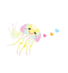 ぷるんと虹色くらげ(個別スタンプ:25)